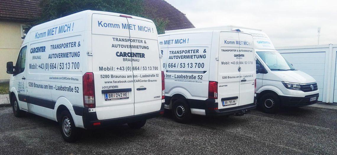 transporter mieten braunau carcenter